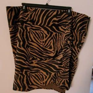 Lane Bryant Animal Print Skirt - 28